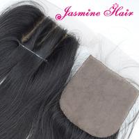 Cheap 3 Way part silk base closure 4''x4'',6A virgin malaysian hair lace top closure unprocessed hair swiss lace bleached knots