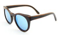 Retro nature bamboo Sunglasses wayfarer wood polarzied sun glasses Purely Hand Made UV400 protection bule men women shade Z6011