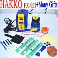 Free shipping EU plug HAKKO FX-951 fx951 Digital Soldering Station/Solder Electric Soldering Irons 110V/220V +Many gifts