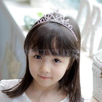 New 2014 Cute Children Kids Girls Rhinestone Princess Hair Band Crown Headband Tiara b10 sv001649