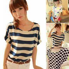 XXL plus size 2014 floral print modal o-neck  loose causal short sleeve summer women chiffon t Shirt shirts t652 batwing(China (Mainland))