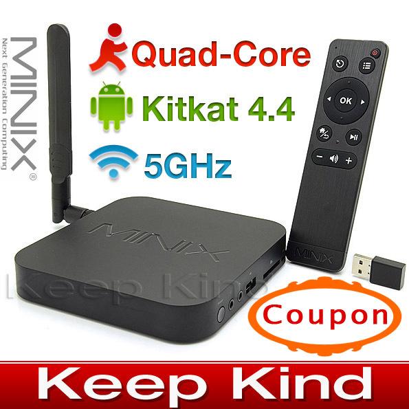 MINIX NEO X8-H X8 -H X8H Android TV Box Quad Core Amlogic S802-H 2GB 16GB 4K Android Kitkat 4.4 Smart TV Box XBMC Mini PC+M1(China (Mainland))