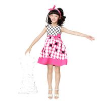 Free shipping 2014 summer new arrivales kids dress one-piece dress girl dress princess dot dress