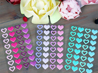 10sheets/lot kawaii cute heart shape Enamel adhesive 3D stickers scrapbooking decoration accessories