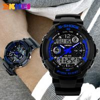 SKMEI Men Casual Sports Watches LED Digital Quartz Multifunction Waterproof Military Watch Fashion Outdoor Dress Wristwatches