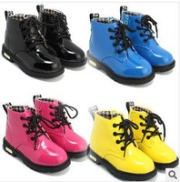 Free shipping 2014 children shoes, boots leather waterproof child girls sports boots kids sport flat shoes winter16-22cm K