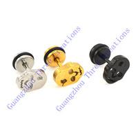 30 pairs 10mm Random Colors Skull Stainless Steel Stud Earrings,Fashion Earring Stud,Stainless Steel Earring #30450