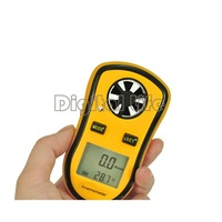 Good New Lcd Digital anemometer wind speed meter Gauge Anemometer Measures NTC Temperature Spot Wind Speed Meter B16 870