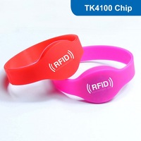 Silicone RFID Wristband  RFID Bracelet with TK4100 Chip Free Shipping