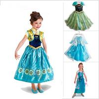 Girls Girl Summer Frozen Anna Coronation Dresses Party Princess Elsa Dress Vestidos De Menina Costume Cosplay Fantasia Clothes
