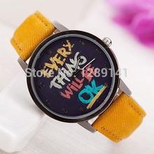 2014 New Summer Casual Men Women Young Positive Energy Pattern Watches Fabric Strap Quartz Top Grade Wristwatches For Men Women