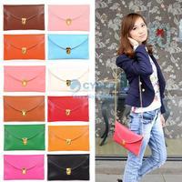 2014 New fashion Envelope Clutch Womens Chain Purse Handbag Messenger Tote Shoulder Hand Bag 12 Colors Wholesale #7 13255