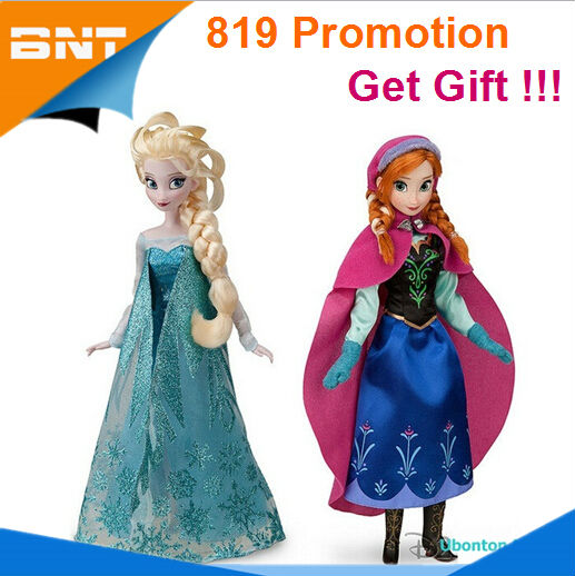 Promotion !!! Only 50 pcs ! 2 pcs/lot Baby Frozen Dolls Toys Girl Princess Dolls Frozen Doll Toy Elsa and Anna Frozen Toys Gift(China (Mainland))
