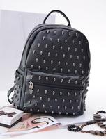 New 2014 Women Backpacks Designer Brand Printing Backpack Hiking Backpacks Women's PU Leather Black Desigual Bag Free shipping