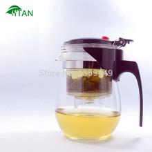 Free shipping,500ml circular heat-resistant glass tea pot as kung fu tea set,teapot,flower tea pot,cup,mug,kettle,travel tea set