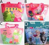 Peppa pig small handbag WaterProof baby cartoon Bag Mochila Beach Bags Kids Swimming Bag lunch Bag Children's Birthday Gift