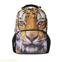 School Bags For Children 3D  Animal Fashion Minecraft Backpack Painting Shool Backpack Kids Mochila Tiger Men's Backpacks