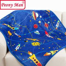 New Hot Baby Blanket 80*100cm Kids Cartoon Cobertor Bebe Aircon Child Sheet Thick Warm Winter Blankets Super Soft Flannel Fleece(China (Mainland))