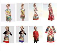Wholesale Super quality 2014 new Italy brand children princess set designer girl dobby dress,kids flower girl set  C564