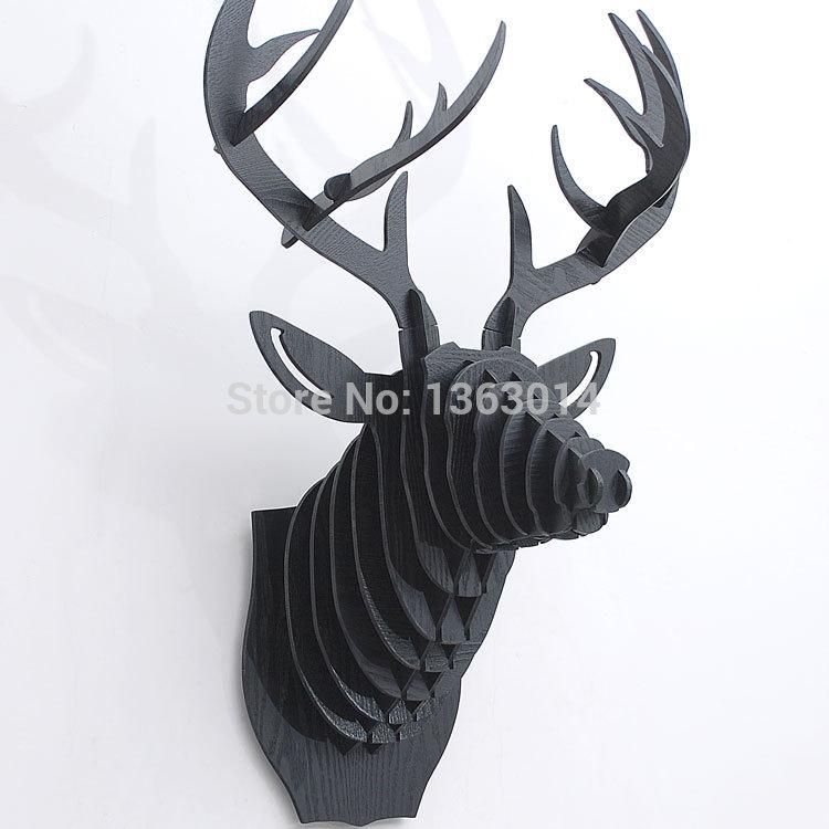 On sale home decoration! J&E high-end Wood animal head(China (Mainland))