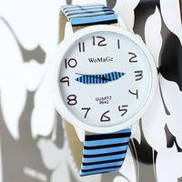 Watch Woman Fashion Casual Brand Quartz Watches Women's Cartoon relogio girls reloj Round Analog  feminino Stripes Wristwatches