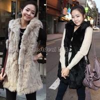 2014 Winter Fashion Waistcoat for Women Faux Fur Vest Coat V-Collar Long Waistcoat Jacket Outwear B26 7668