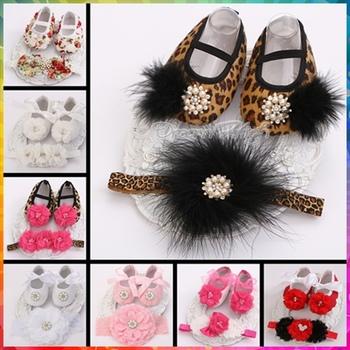 Крещение леопарда детская обувь для девочек крещение повязка на голову комплект, роза пинетки девушка детская обувь, зебра горный хрусталь девушка новорожденный обувь