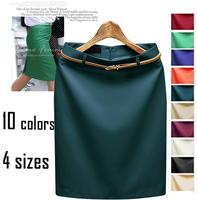 10 Colors 2015 New Fashion autumn Ladies Elegant  OL female Skirts High Quality Vintage high waist Slim Skirts WTP0118(NO BELT)