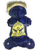 Blue Red Grey New Ski Team Printing Skiwear Winter Pet Dog Clothes Waterproof Warm Coat Jumpsuit Thick Tracksuit Windbreaker