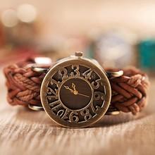 2014 New Women Dress Watches Women Hollow Watches Vintage Leather Fashion Quartz Retro Sports Vintage Wristwatches b8 20161(China (Mainland))
