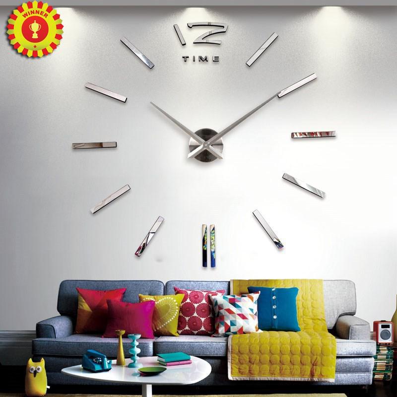 Home decoration wall clock big mirror wall clock Modern design,large size wall clocks.diy wall sticker unique gift(China (Mainland))