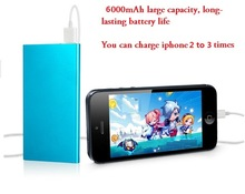 Power Bank 6000mah Portable Charger Powerbank Mobile Phone Backup Powers External Battery Charger For Mobile Phone