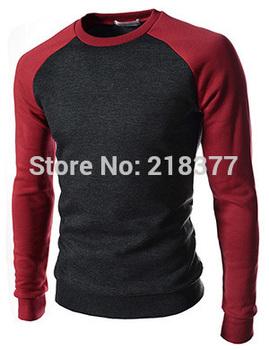Свитер 2014 новое поступление пуловеры свитер мужской письмо печатные о-образным вырезом с длинным рукавом человек свитер свободного покроя тонкий мужские свитера размер 4XL