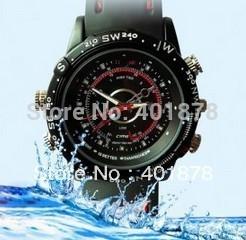 4GB 8GB High Definition mini camera dvr Waterproof Fashion Watch Digital Video Recorder Hidden Camera 720*480 free ship