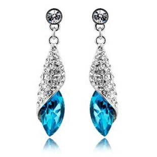 Free shipping fashion accessories women unique earring Light Desert Crystal earrings 116(China (Mainland))
