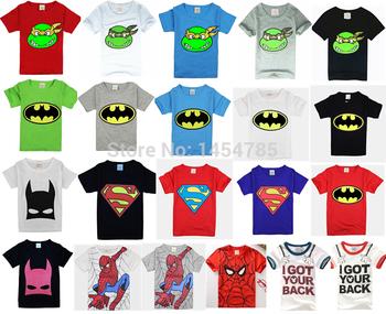 2015 новый! детские товары одежда мальчики девочки унисекс тенниска многоцветной дополнительно мультфильм дети футболки 100% хлопок детская футболка