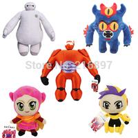 Big Hero 6 Baymax Wholesale Cartoon Movie Plush Dolls Big Size Baymax Robot Stuffed Toys Fred & GoGo Tomago & Honey Lemon