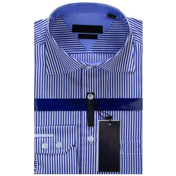 Полосатых мужские деловые свободного покроя с длинными рукавами платье бренда рубашки Marcas Camisa Masculina мужской социальной рубашки мужчин полосатой рубашке