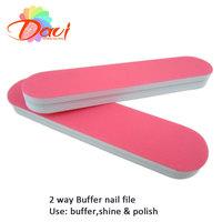 mini nail file 40pcs/lot nail tools pink nail buffer polish  for professional nail art nail care High Gloss Shine