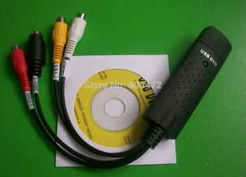 25pcs/lot  free shipping easycap Usb 2.0 Video TV DVD VHS Audio Capture Adapter for vista win7 win 8