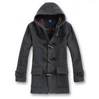 Wholesales New Men Wool Coat Winter Clothes Factory Produce Outdoor Hood Overcoat Outerwear Trench Coat Man Windbreaker Spring