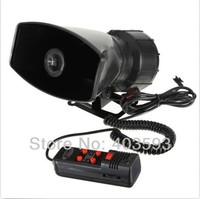 FREE SHIPPING 5 Tone Police Siren + 100W Car Speaker + Microphone 60W