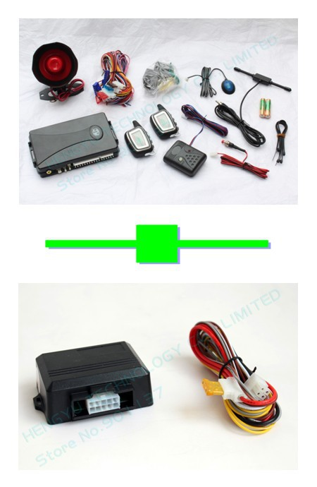 1 pcs PLC two way car alarm FM 8088 no engine start LCD display range1000 meter+1 pcs power window closer/window roll up FR-2WA(China (Mainland))