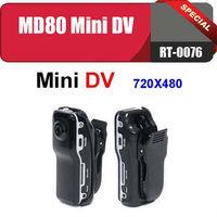 RT-0076 Hot sale!!! MD 80 MINI DV/CCTV camera+World's smallest voice recorder+Resolution 720 x 480+Free shipping