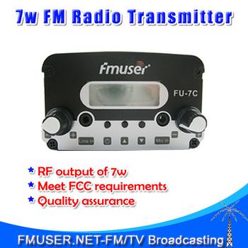 Freeshipping FMUSER FU-7C 7W FM stereo PLL FM transmitter  radio broadcast fm transmiter