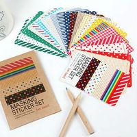 Cute Diary DIY Decoration Masking Sticker BASIC & PASTEL Set, 27 Sheets/Pack, Free shipping 80455