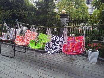 Free Shipping Adult Swing Chair Guaranteed 100% cotton sponge cushion garden hanging chair swing