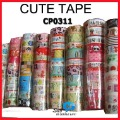 WHOLESALE cartoon tape cute color self-adhesive sticker stationery Office Adhesive Fashion gift 100pcs/lot say hi CP 0311