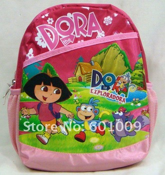 Free Shipping Dora the Explorer Dora Backpack Child Pre School Bag New#8819 Wholesale and Retail