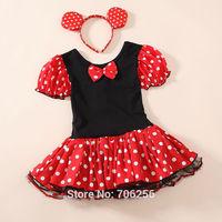 Free Shipping  Elsa/Halloween Minnie Mouse Girls child children Party Christmas Costume Ballet Tutu Dress 2-10Y Kids GD01